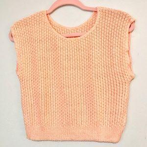 Vintage | Peach Knit Crop Top